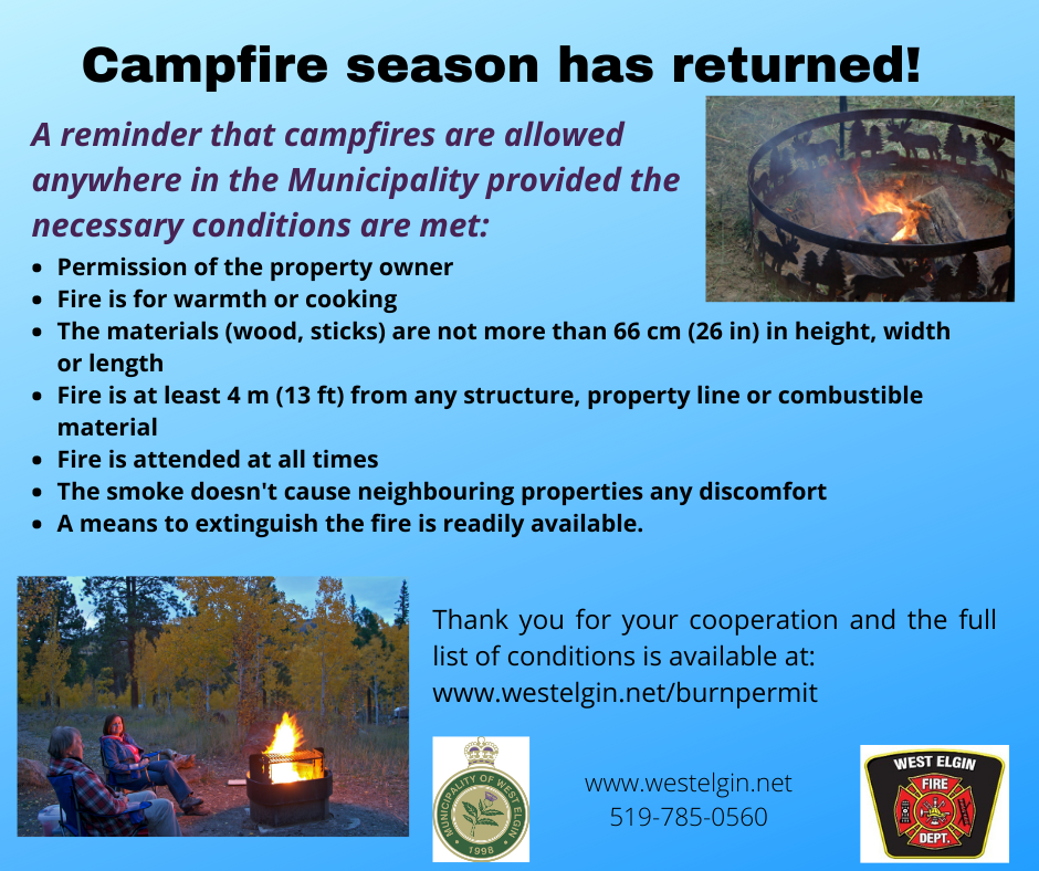 Campfire Season Notice
