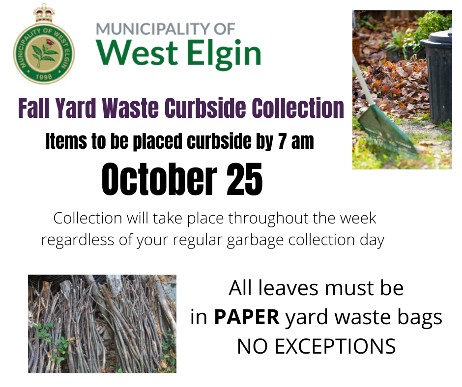 Fall Yard Waste Collection Day Poster