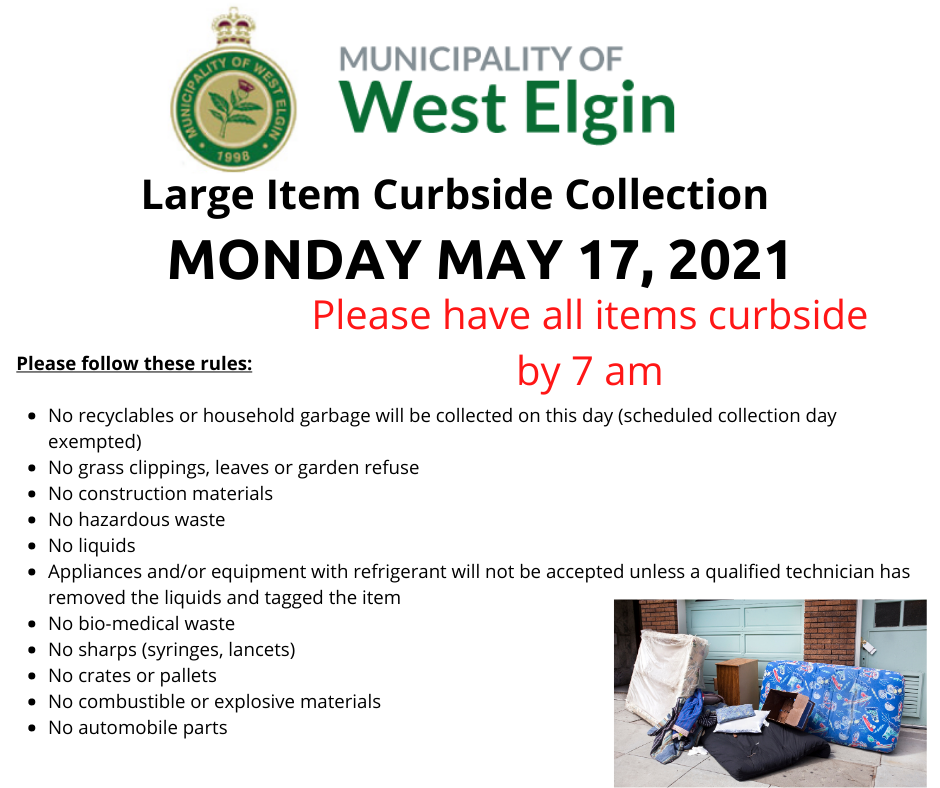 Large Item Collection Day Poster