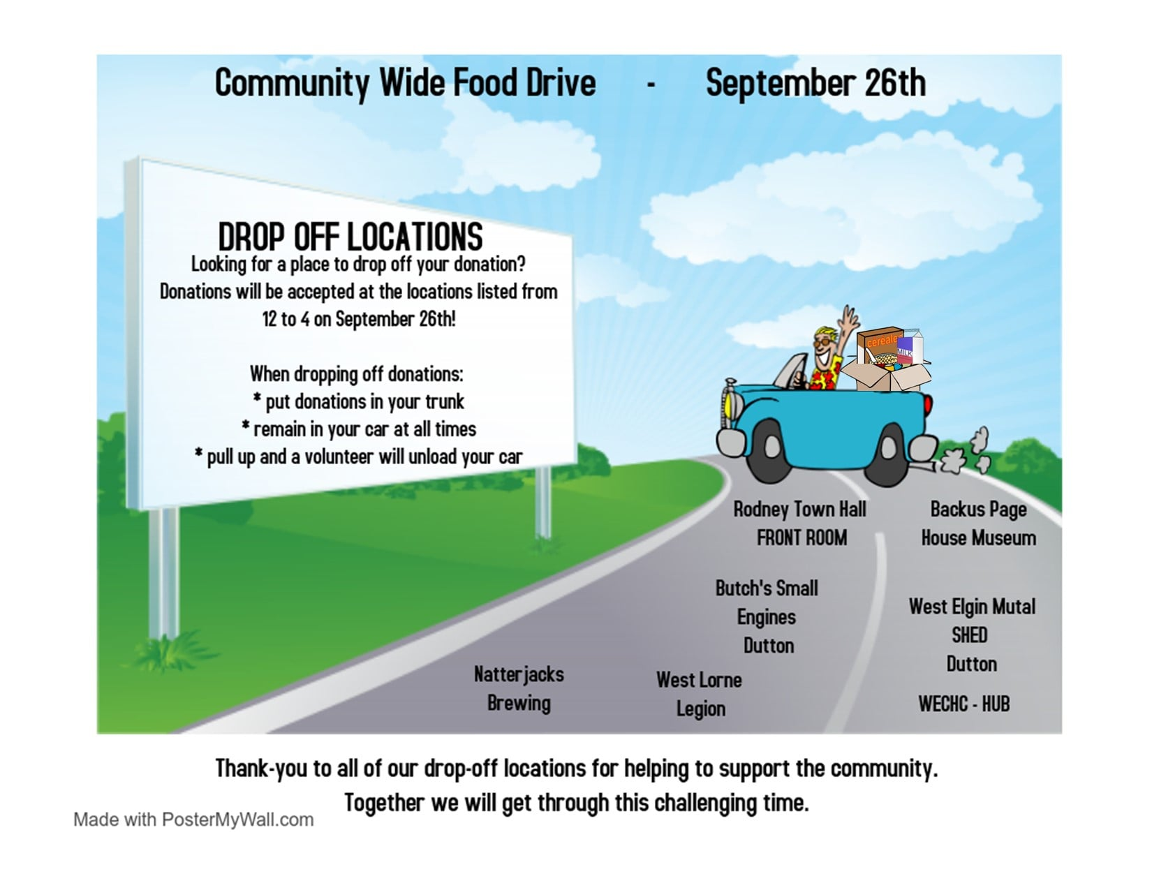 food drive drop off locations