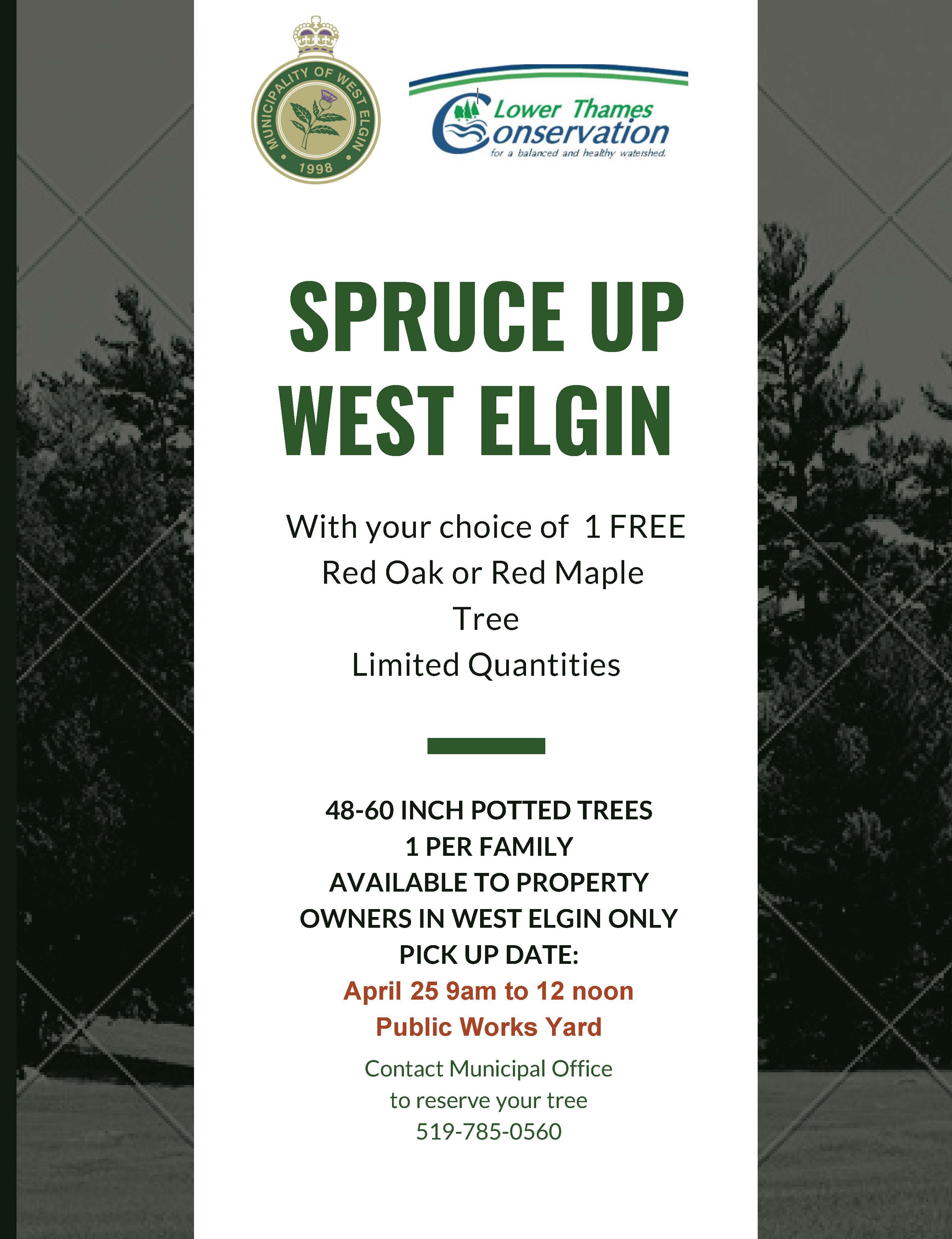 Spruce Up West Elgin Poster