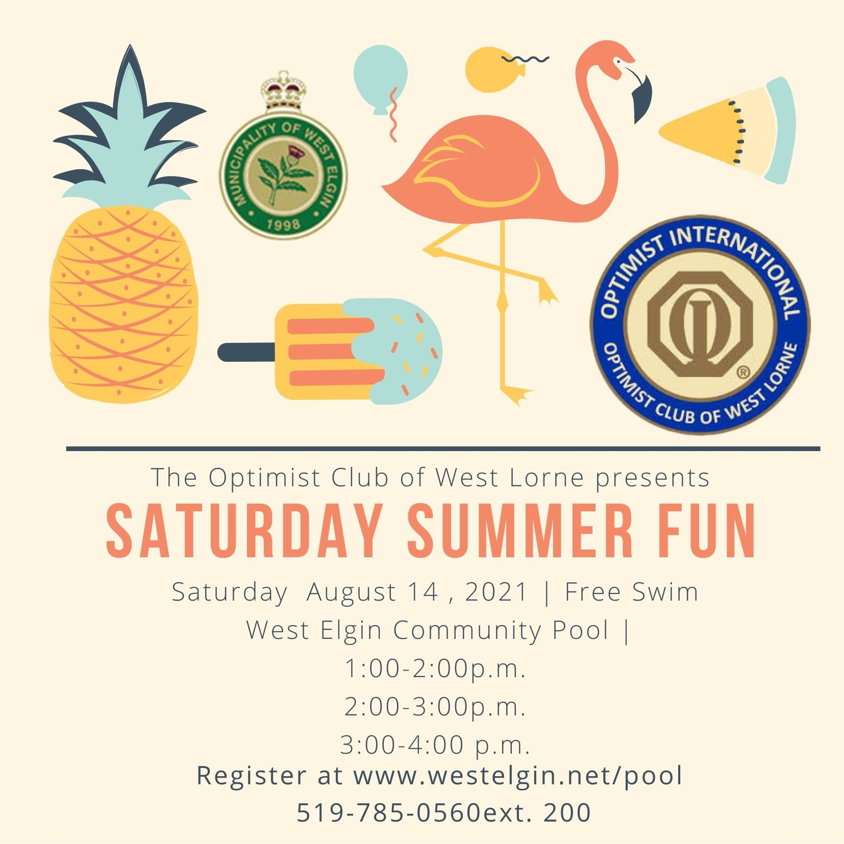 Saturday Summer Fun Poster