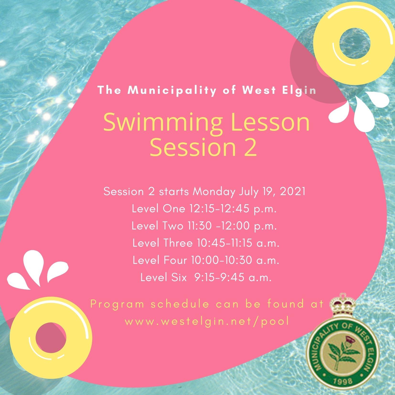 Swimming Lesson Reminder