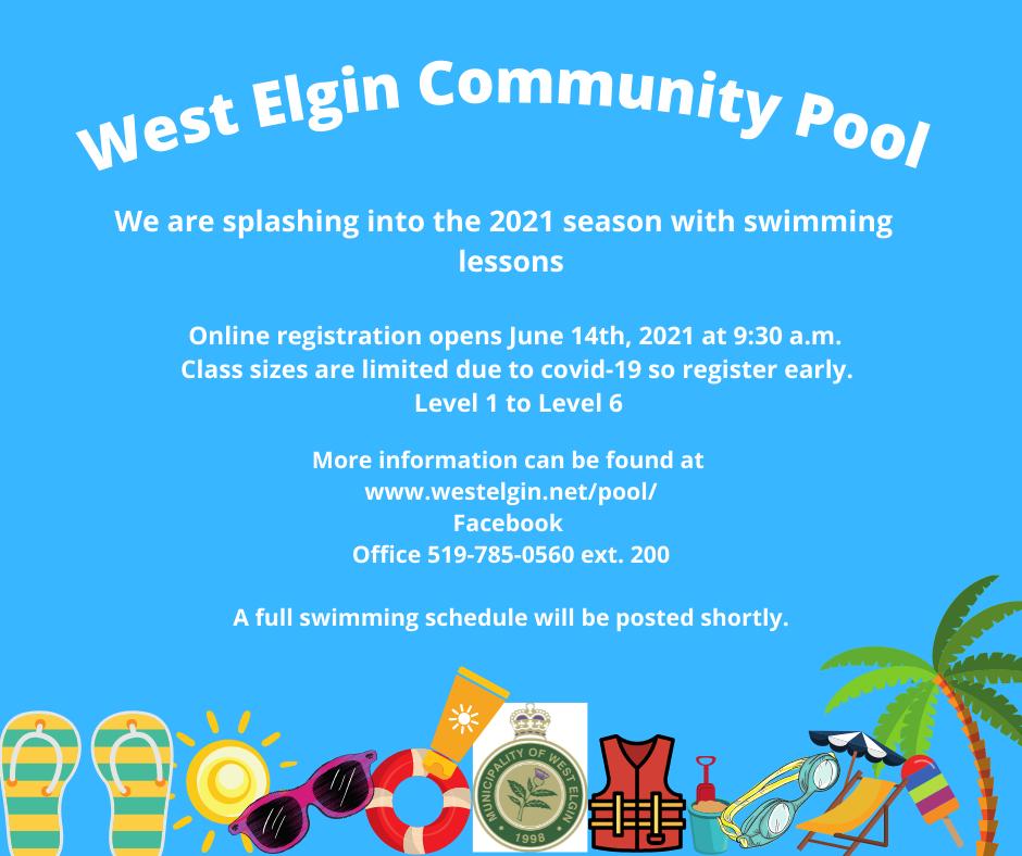 West Elgin Community Pool News Update