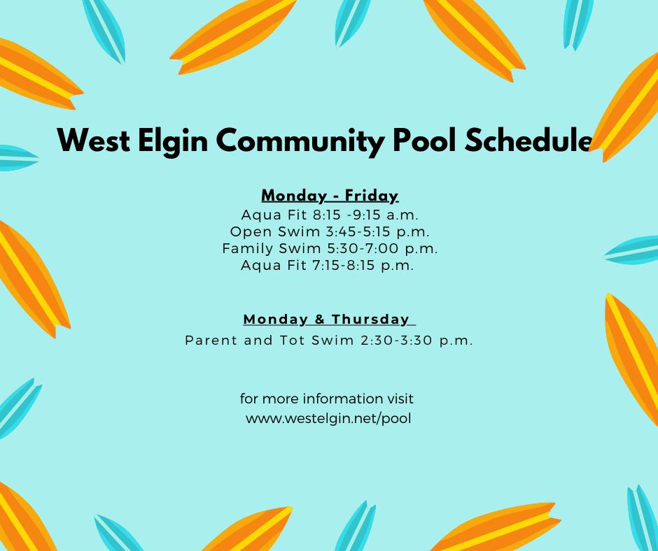 West Elgin Community Pool Schedule