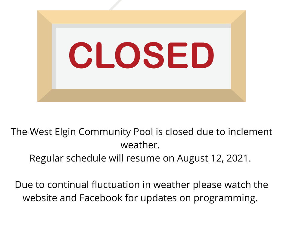pool closed August 11