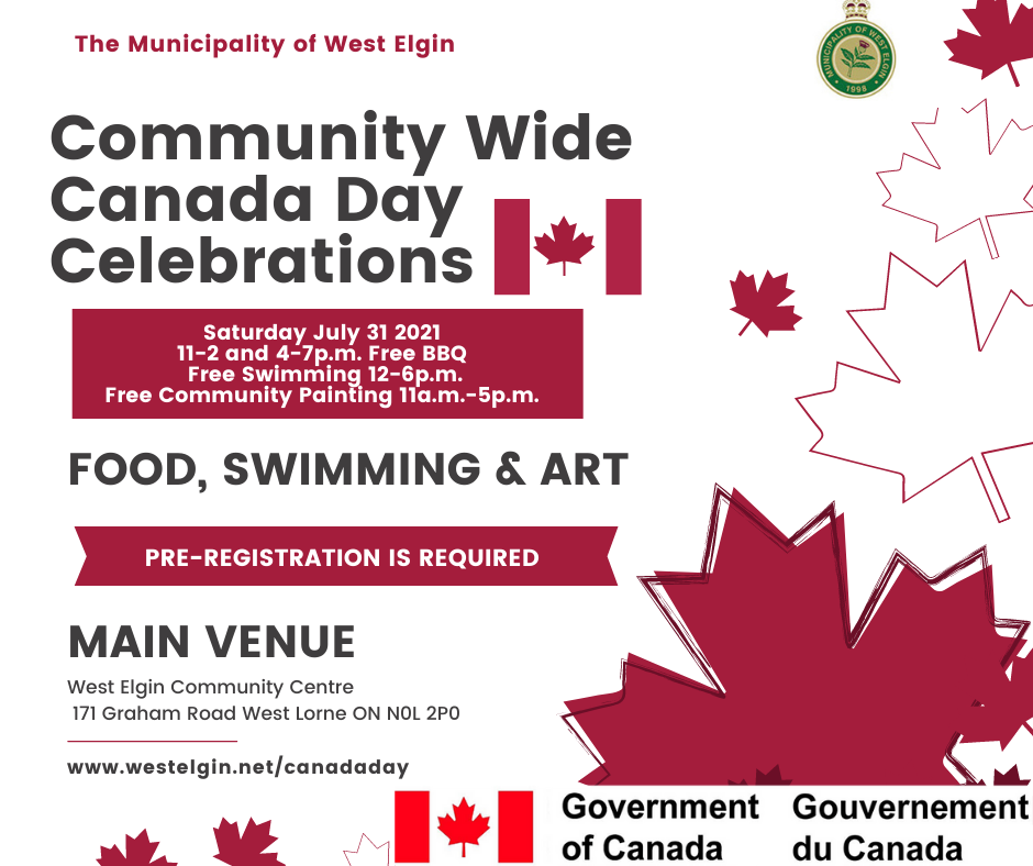 Canada Day Community Celebrations Poster