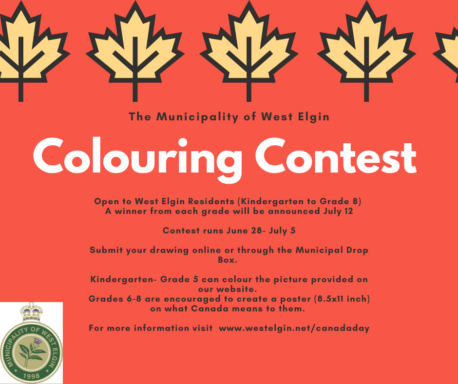 Canada Day Colouring Contest Poster