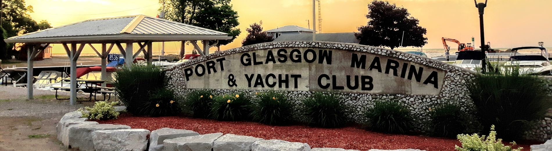 Port Glasgow Marina sign